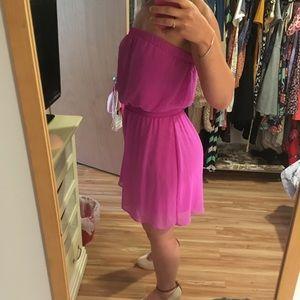 NWOT pink strapless dress